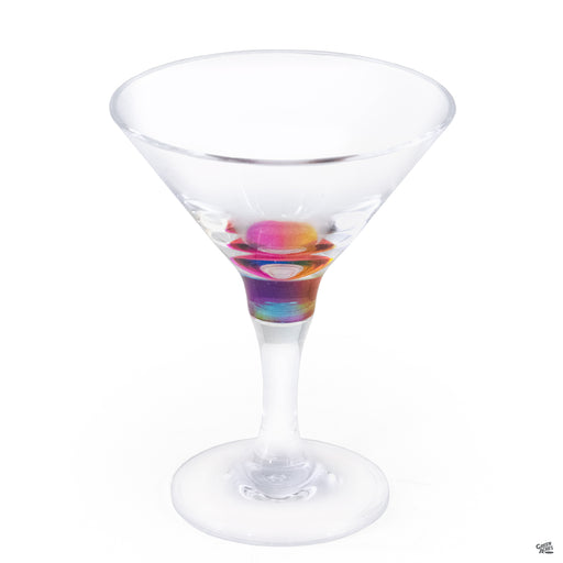 Rainbow Martini Glass 9 ounce