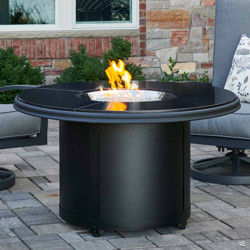 Beacon Granite Fire Pit Table Black Granite Chat