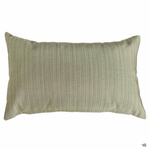 Lumbar Pillow in Dupione Laurel (Vertical Stripes)