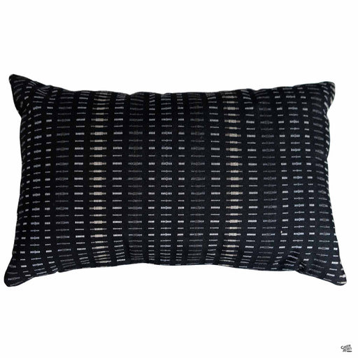 Lumbar Pillow in Esti Onyx (Vertical Stripes)