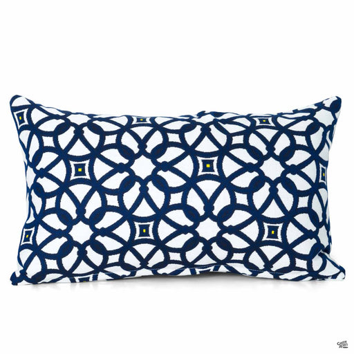 Lumbar Pillow in Luxe Indigo