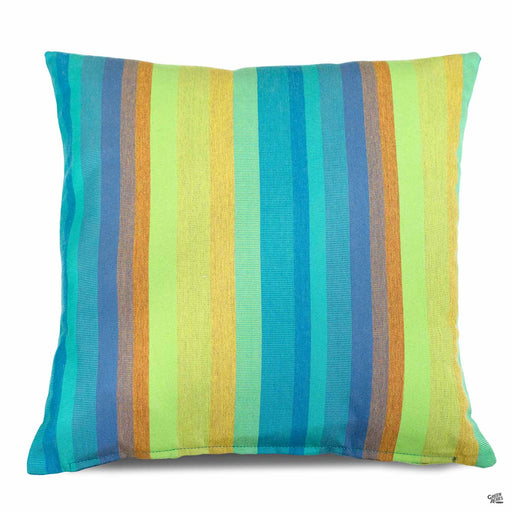 Pillow in Astoria Lagoon (vertical stripes)