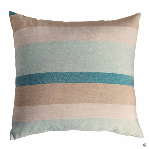 Pillow in Gateway Mist (Horizontal Stripes)