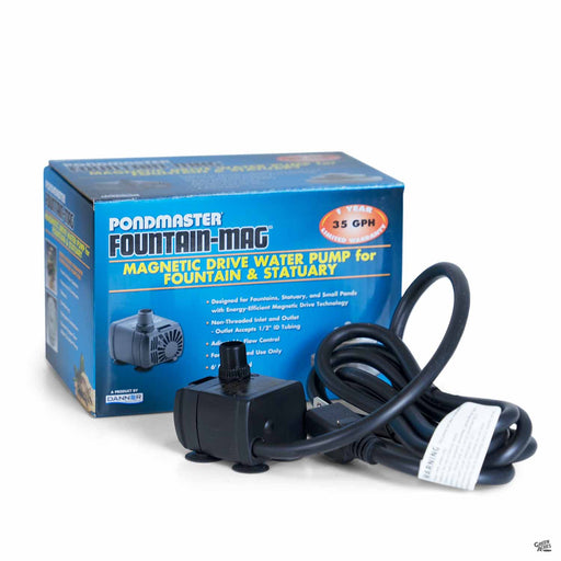 PondMaster Fountain-Mag Magnetic Drive Water Pump for Fountain and Statuary 35 GPH