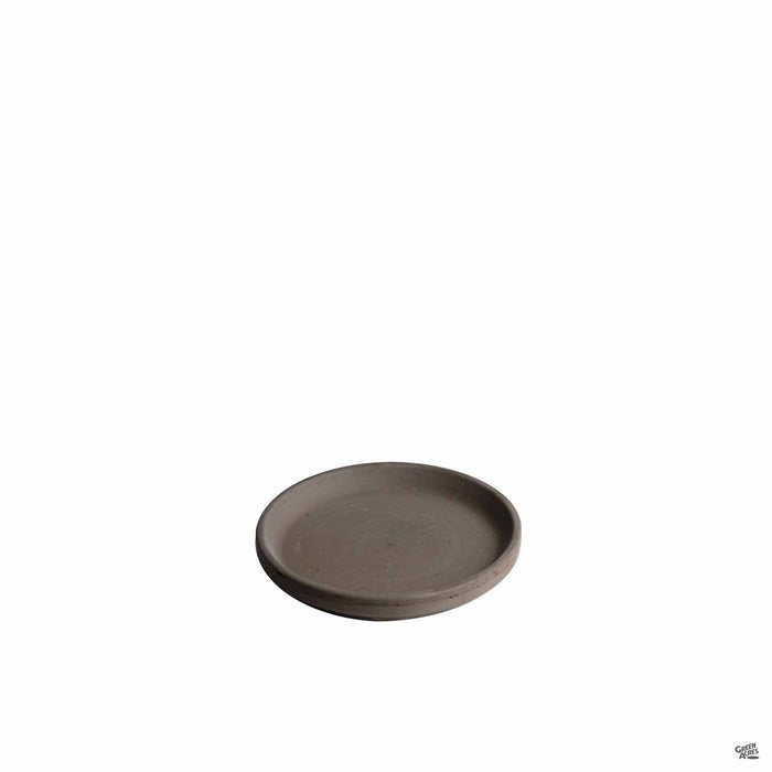 Chocolate Marbled German Clay Saucer 5 inch