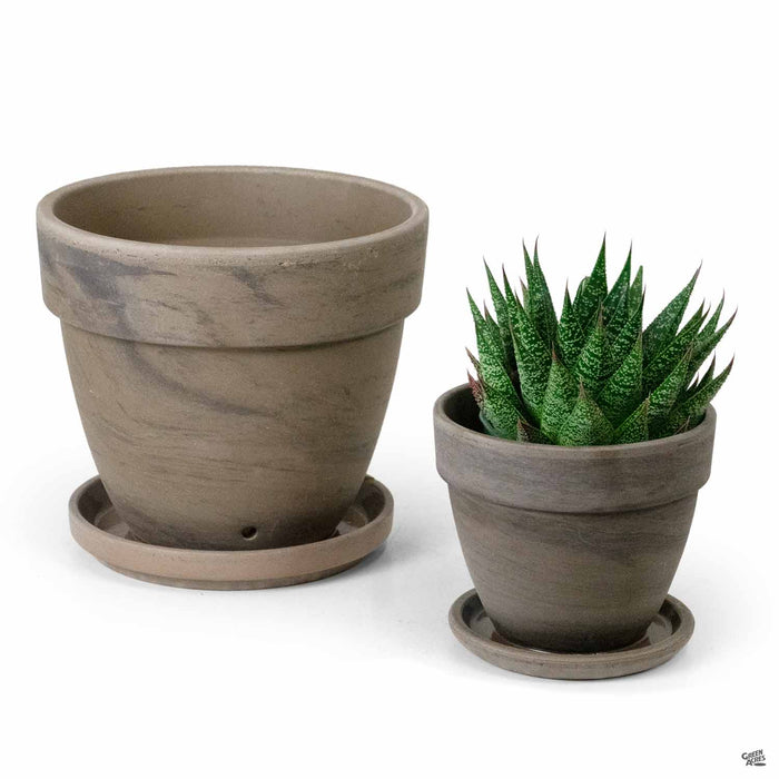 German Levante Pots - Chocolate Marbled group