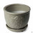 Medallion Planter 6 inch in Grey