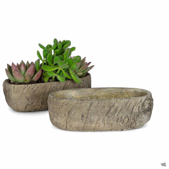 Pinewood Oval Planter 10 inch