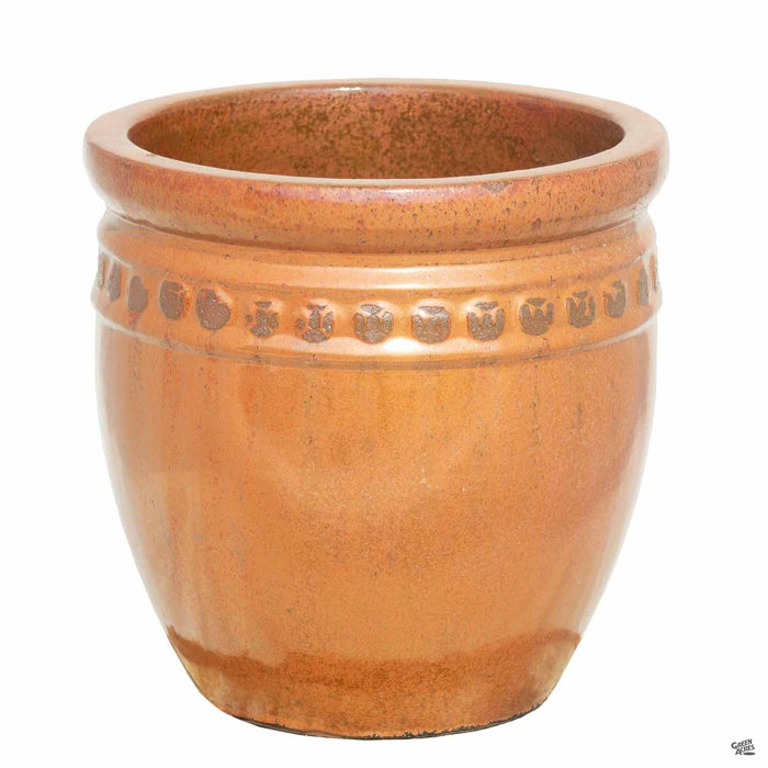 Decor Pot with Pattern - Size 4 in Copper