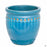 Decor Pot with Pattern - Size 4 in Teal