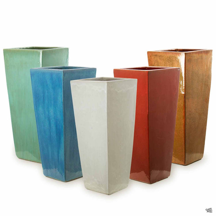 Medium Slim Square Pottery in Assorted Colors