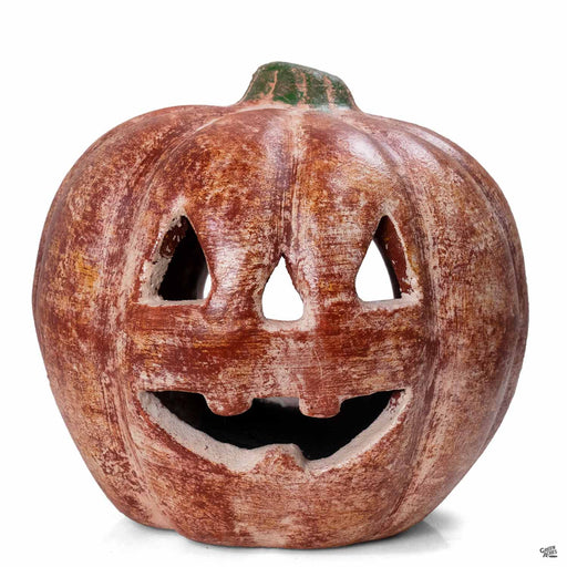 Ceramic Pumpkin 10 inch wide by 11 inch tall
