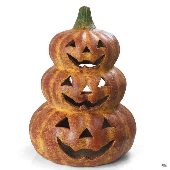 Ceramic Pumpkin 11 inch wide by 16.5 inch tall