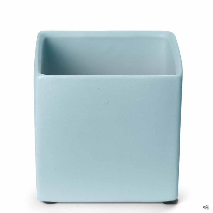 Cube Cache Pot 4.5 inch Light Blue