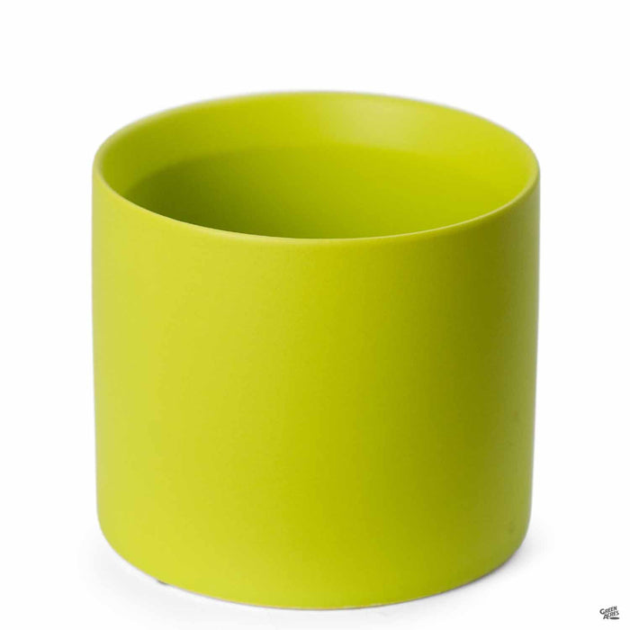 Cylinder Cache Pot 4 inch Lime Green