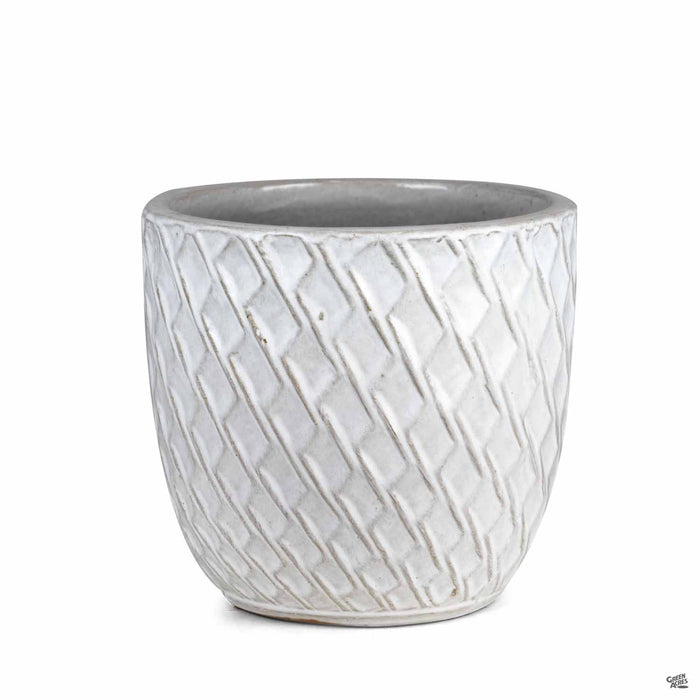 Berber Planter Lightening Pot 11.5 inch in White