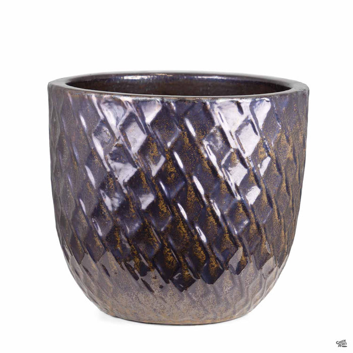 Berber Planter Lightening Pot 14 inch in Gold