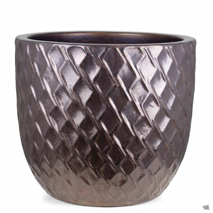 Berber Planter Lightening Pot 18 inch in Gold
