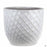 Berber Planter Lightening Pot 18 inch in White