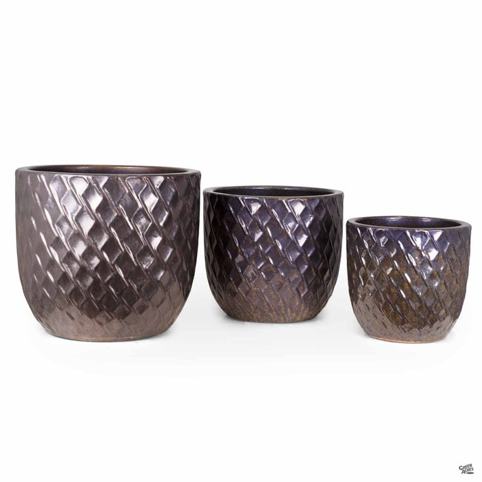 Berber Planter Lightening Pots in Gold