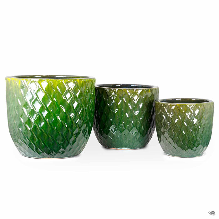 Berber Planter Lightening Pots in Green