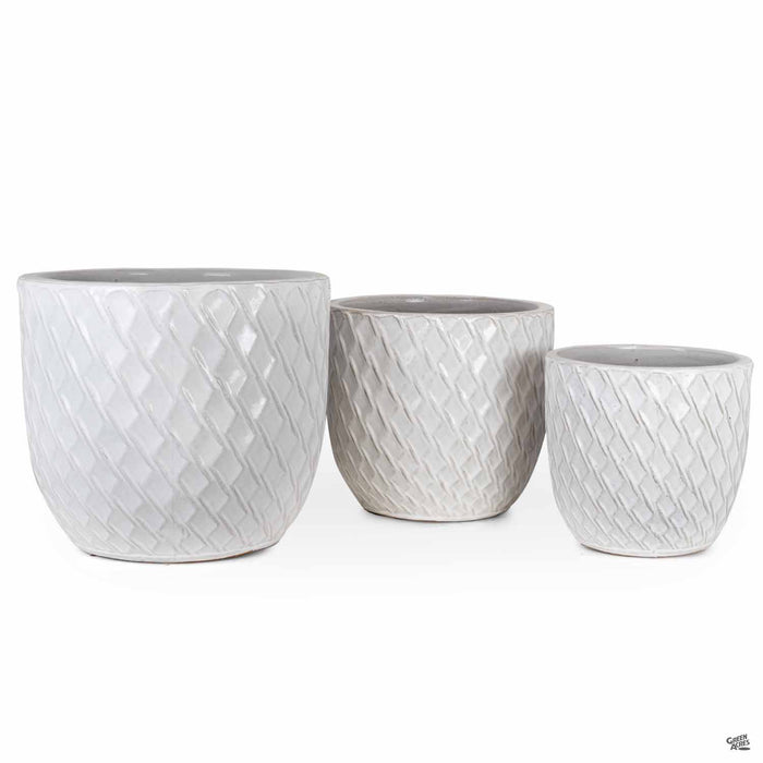 Berber Planter Lightening Pots in White