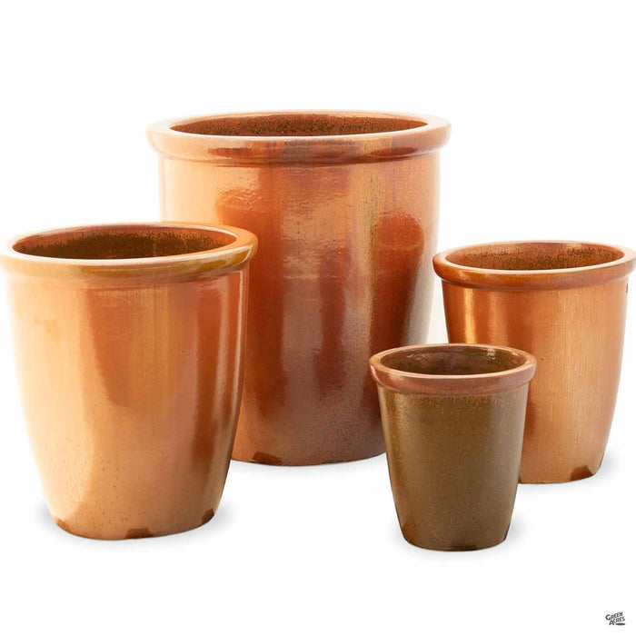 Thick Rim Cana Pot - 4 sizes in Copper