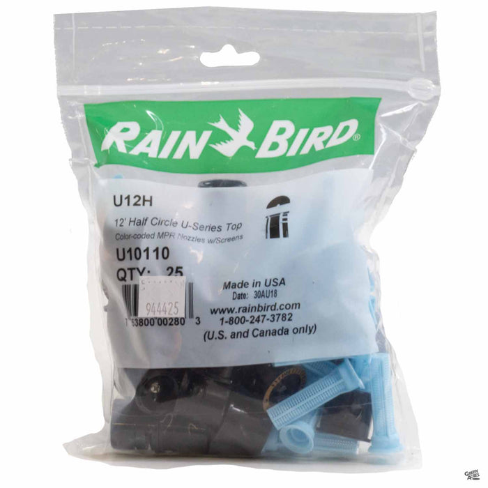 Rain Bird Spray Nozzle U12 Half Circle, 25 pack