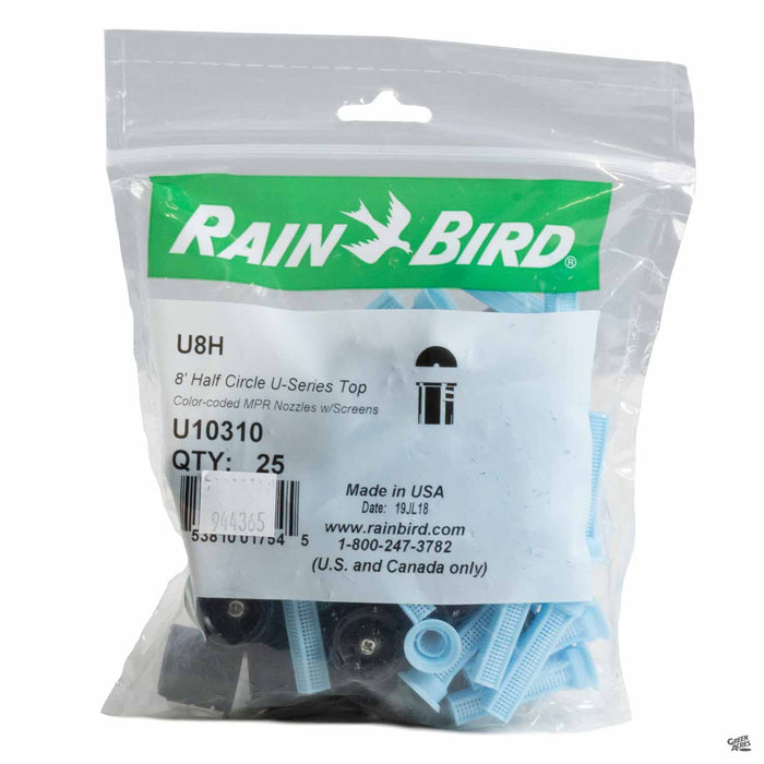 Rain Bird Spray Nozzle U-8H 180 Degrees 25 pack
