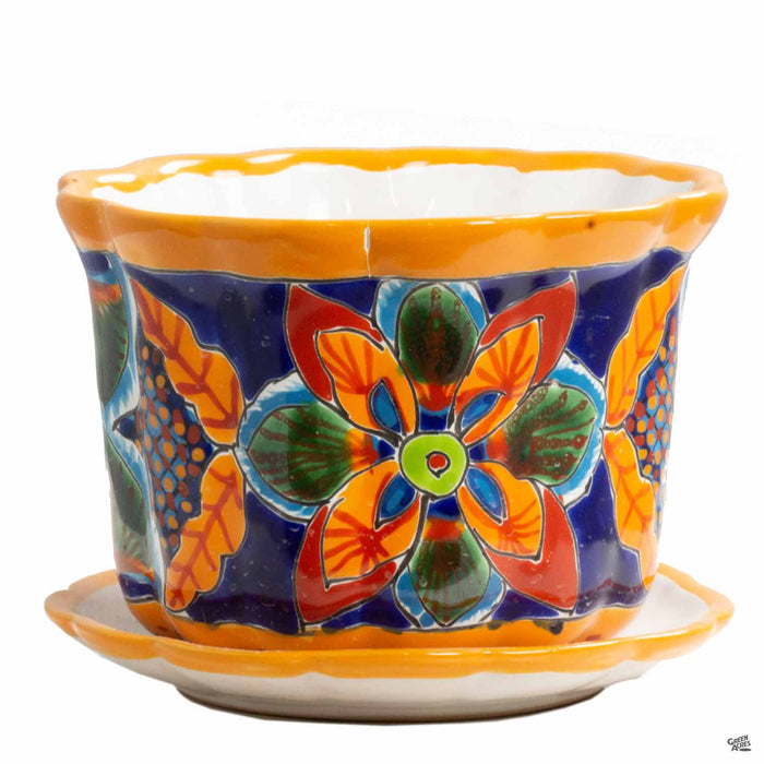 Medium Talavera Pot with Saucer