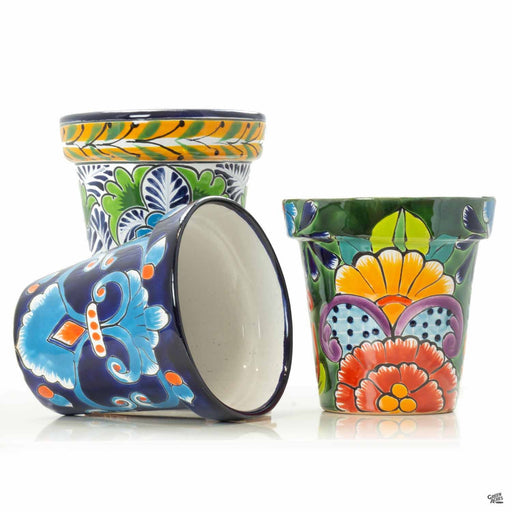 Group of 6 inch Talaveras Flower Pots