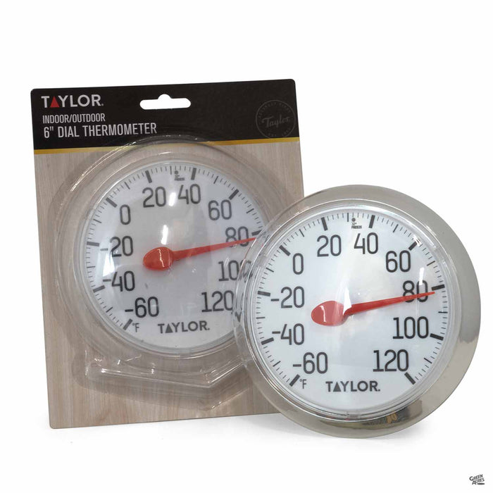 Taylor Round Indoor-Outdoor 6 inch Dial Thermometer