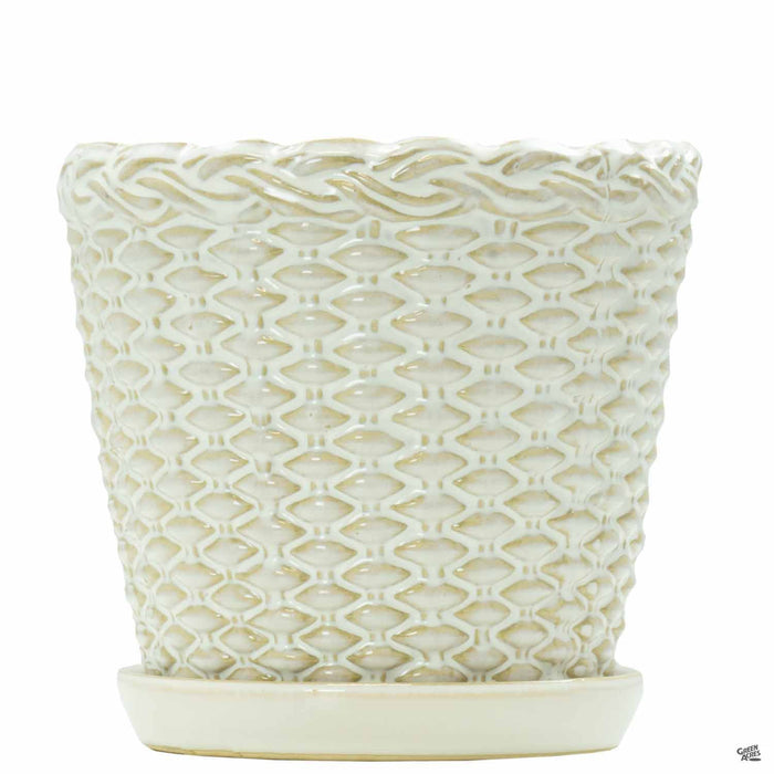 Willow Basket Pottery 7 inch