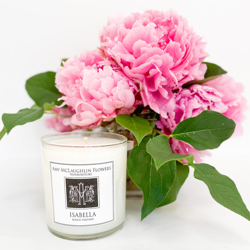 Fresh Flowers and the Isabella Candle