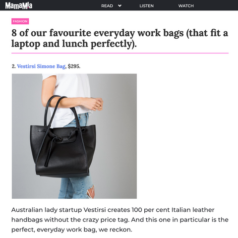 VESTIRSI BEST WORK HANDBAG IN MAMAMIA
