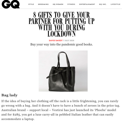 VESTIRSI PHOEBE BAG IN GQ