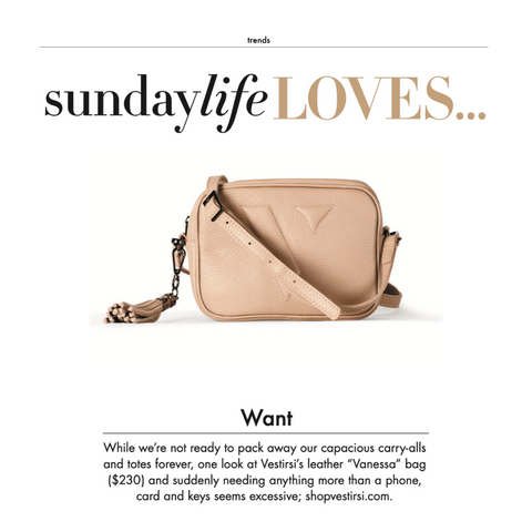 VESTIRSI VANESSA BAG IN SUNDAY LIFE MAGAZINE