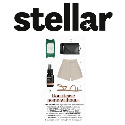 VESTIRSI Italian Luxury Leather handbags in STELLAR magazine
