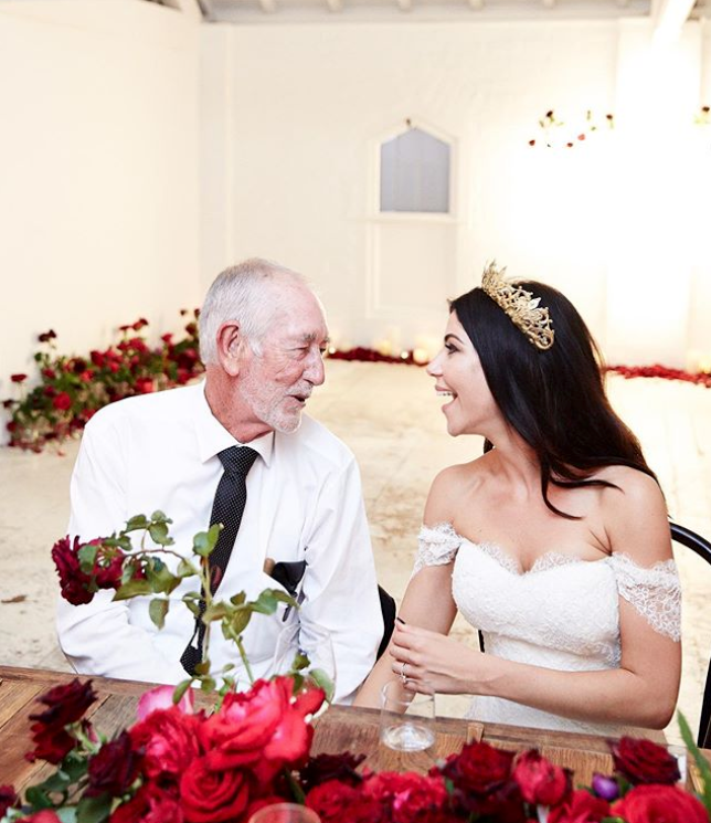 LEIGH CAMPBELL + HER FATHER ON HER WEDDING DAY