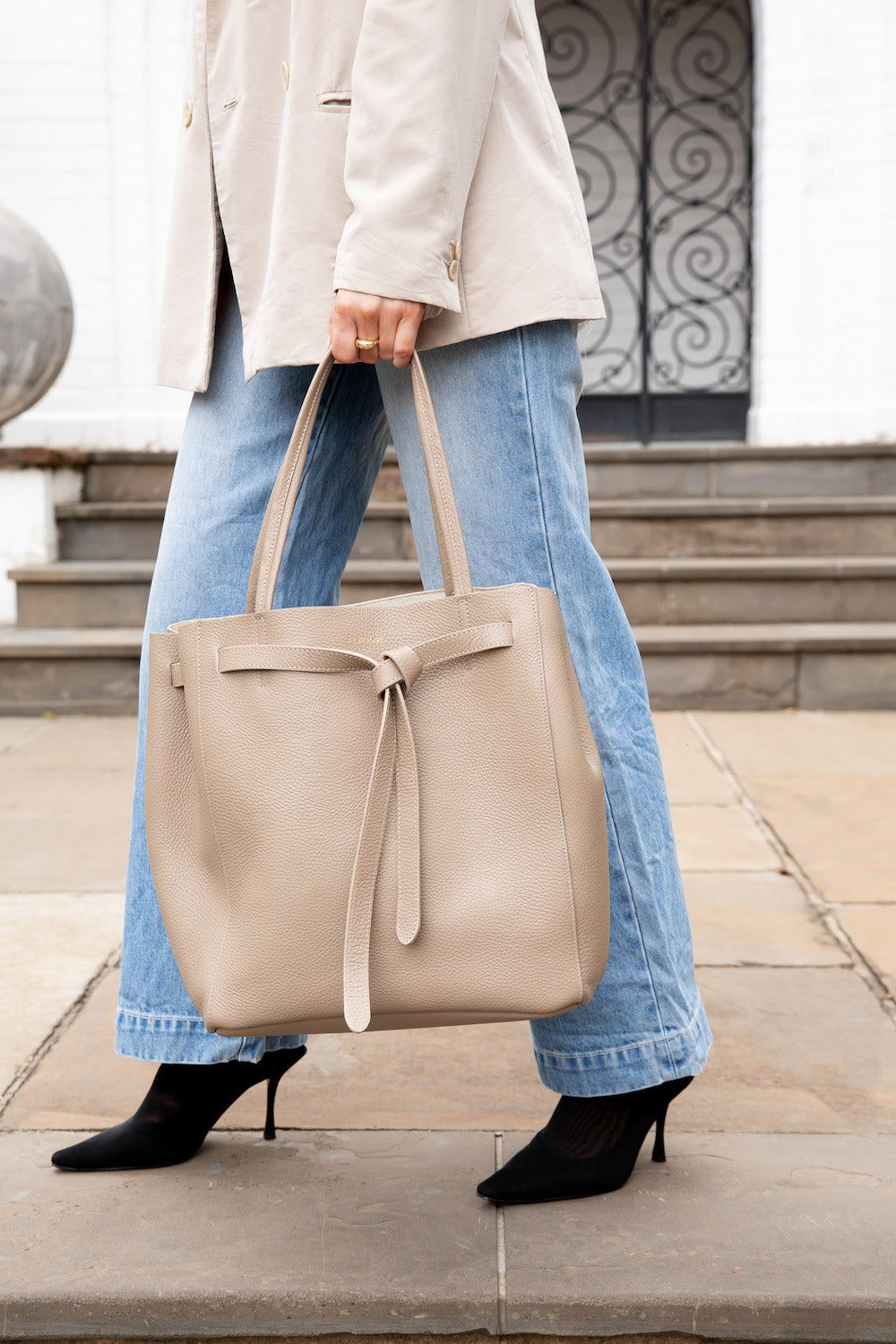 VESTIRSI PHOEBE BEIGE LEATHER BAG