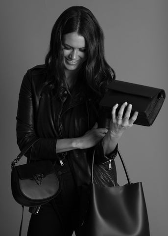 VESTIRSI FOUNDER monica tarca holing 3 black vestirsi leather handbags