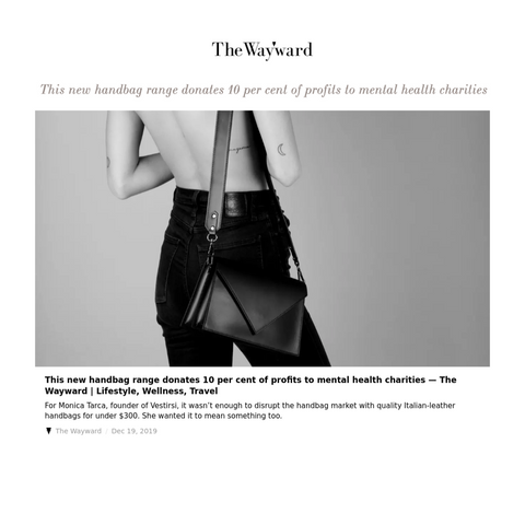 THE WAYWARD_VESTIRSI FEATURE_NEW BRAND GIVES BACK 10% TO MENTAL HEALTH