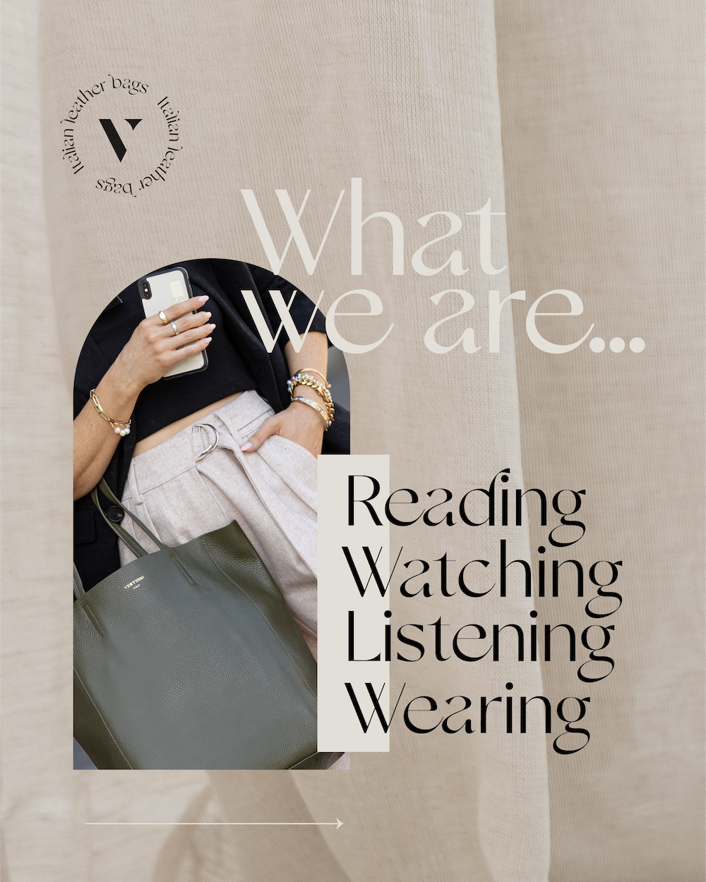 WHAT WE ARE READING WATCHING LISTENING WEARING
