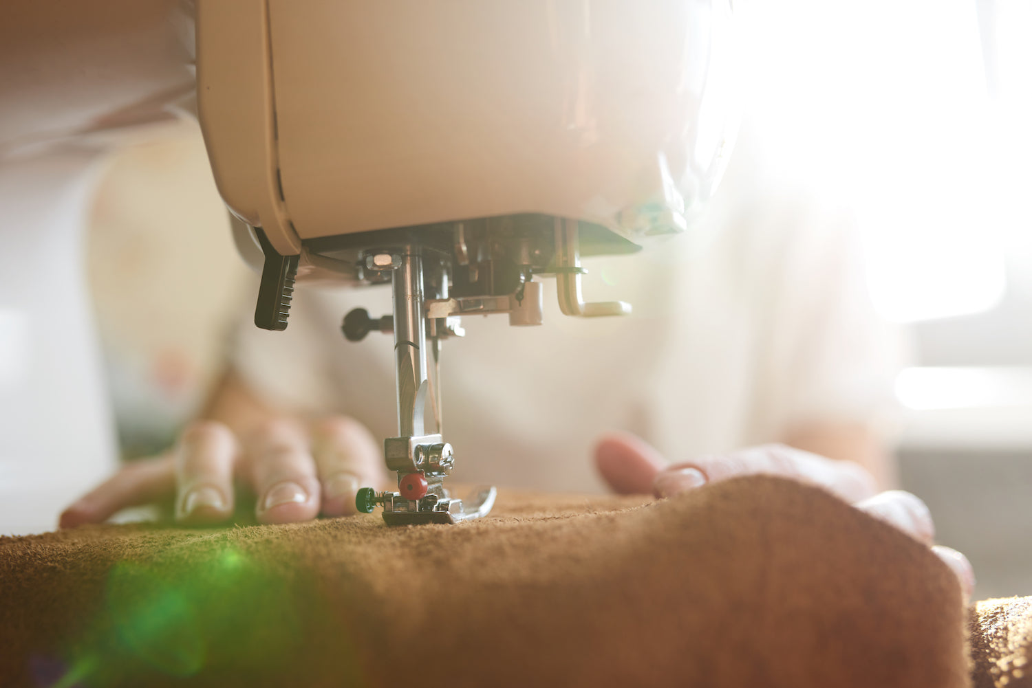ITALIAN LEATHER BEING SEWN