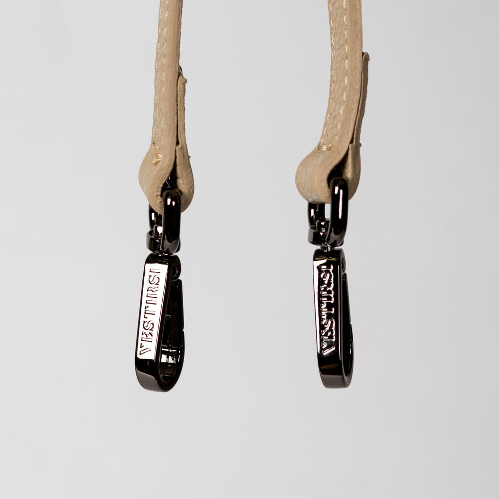 PEBBLED LEATHER STRAP - BEIGE - VESTIRSI