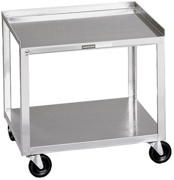 "Stainless Steel Cart - 2 Shelf - (20""H x 19""W x 17""D)"