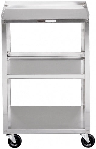 "Stainless Steel Cart - 3 Shelf - (30""H x 19""W x 17""D)"