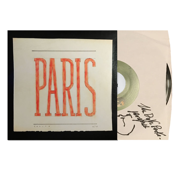 "Van Dyke Parks Autographed Dreaming Of Paris / Wedding In Madagascar 7"" Vinyl"