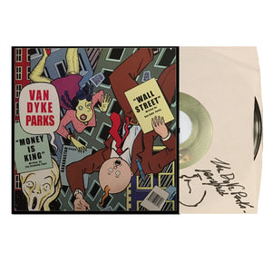 "Van Dyke Parks Autographed Wall Street / Money Is King 7"" Vinyl"