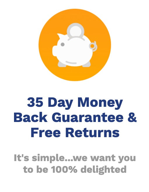 Money Back Guarantee and Free Returns